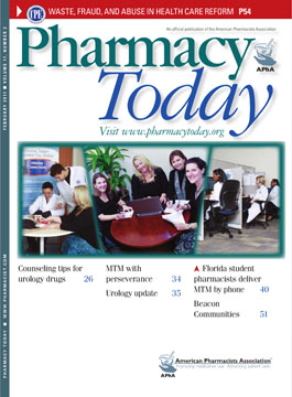 Pharmacy Today Magazine Cover