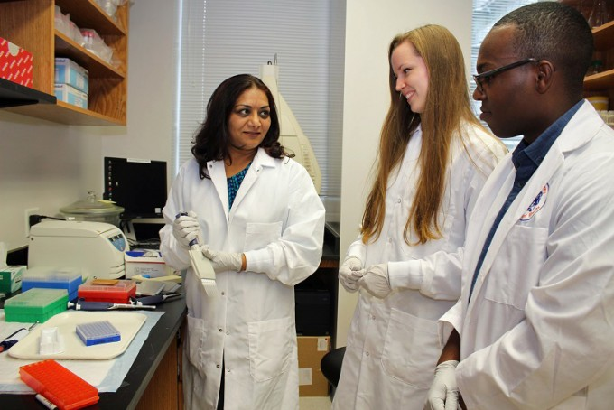 The graduate program in the college has over 100 Ph.D. students working in 30 labs.