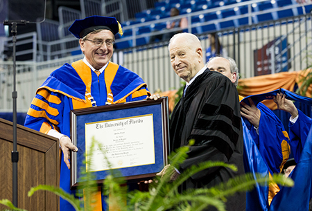 Dr. Phil Frost receives UF honorary degree