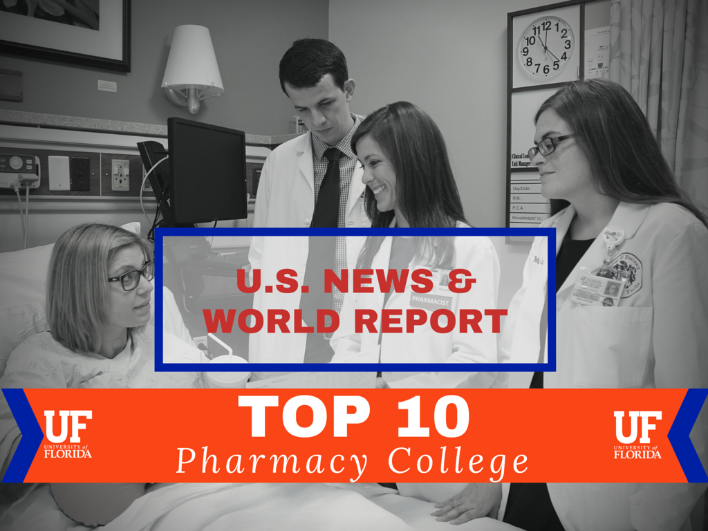 UF College of Pharmacy moves into top 10 of national rankings ...
