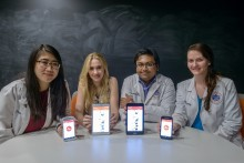 University of Florida College of Pharmacy students developed CPRush, a smartphone/tablet application: Crystal Nguyen, Lyndle Morley, Samip Doshi and Amber Bradley