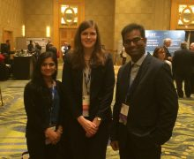 The ACCP Student Award winners in photo include, l to r, Tanaya Vaidya, Amelia Deitchman and Sumit Basu.